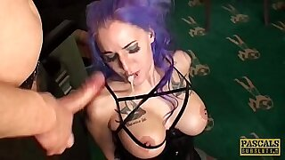 Teen goth chick doing the dildo in her ass - 11:14