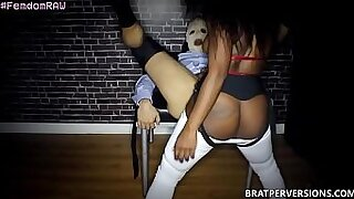 Shy African Girl Pegging her Babe - 1:29
