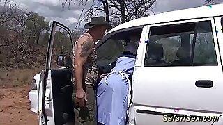 Sexy ebony babe tugs gangbanged hard - 13:19