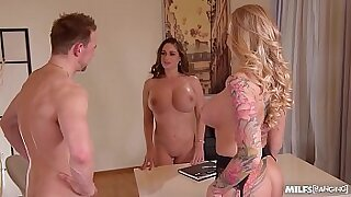Candy Fontes is a MILF just like you who likes good office fuck foursome - 23:58