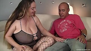 Hawt brunette with big tits rides her fat cock - 10:18