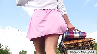British couple suck outdoors from behind with totally wild filmed - 8:55