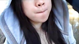 Asian girlfriend pussybanged in public - 10:15