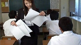 Mei sawai asian busty in office suit gives hot blowjob at school - 10:00
