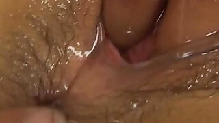 Megumi Haruka is oiled and pumped in beaver