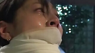 Dirty bitch Arimi Mizusaki is all tied up, gagged and whipped until she cries.WMV - 17:00