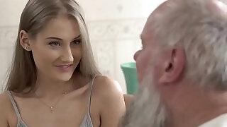 Teen beauty vs old grandpa Tiffany Tatum and Albert - 6:00