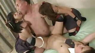 Schoolgirls Fucked By One Man Cum To Mouth On The Mattress In The Room - 9:00