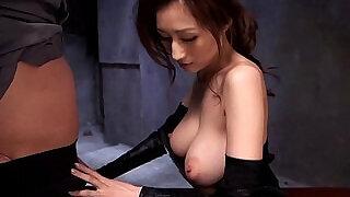 Cosplay ninjutsu lady gets cum on tits - 8:00