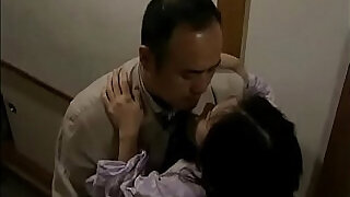 Japanese wife cheats with neighbor when her husband is sleeping - 16:00