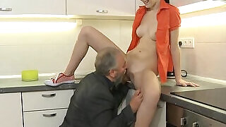 Cute young gal drilled by old dude - 5:00