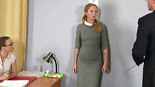 Humiliating nude job interview for shy blonde girl - 6:00