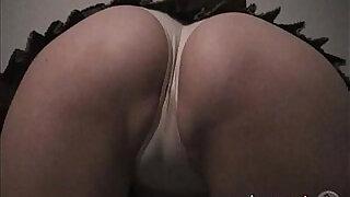 Schoolgirl upskirt geek cameltoes white panties masturbates - 7:00