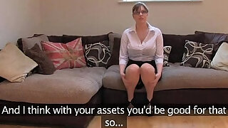 FakeAgentUK Amateur British girl with black huge round tits gets multiple orgasms - 11:00