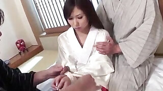 Karen is in for a naughty fuck along two men - 12:00