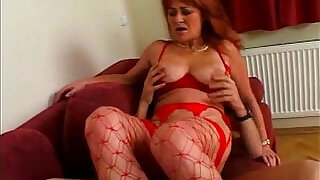 Hot 60 plus in red lingerie fucked - 5:00
