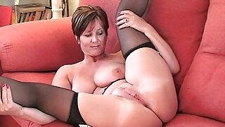 British milf Joy exposing her big tits and hot fanny - 17:00