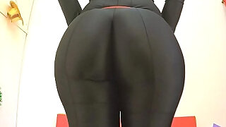 BEST ASS 2015! Working Out in a Black BodySuit. Enjoy Fiona! - 1:03