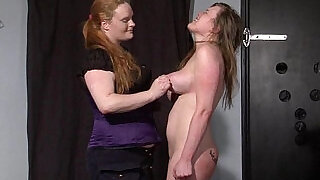 Taylor Hearts bizarre lesbian humiliation and boot licking submission of spanked - 9:00