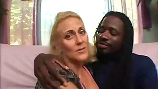 Horny granny does nasty things with black guy - 23:00