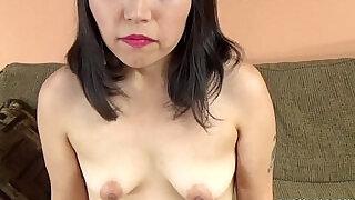 Asian slut Yuka Ozaki is on her knees and sucking dick - 6:00