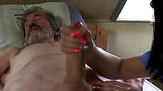 Sexual young care for a poor old man - 6:00