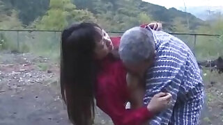 Asian webcam Girl Getting Her Pussy Licked And Fucked By Old Man Cum To Ass Outdoor - 9:00