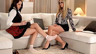 Gorgeous Lesbians in Foot Fetish Action - 30:00
