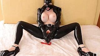 BDSM Sex Goddess Latex Lucy Masturbates till Orgasm - 27:00