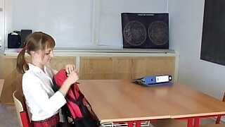 Sian And Hery barely legal teens sex in school classroom - 24:00