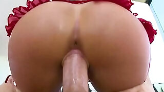 Oiled up bubble butt bouncing Cali Carter - 6:00