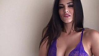 SunnyLeone Sunny Leone in sexy purple lingerie - 6:00