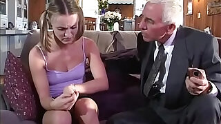 Young girl gets anal fucked by old couple - 21:00