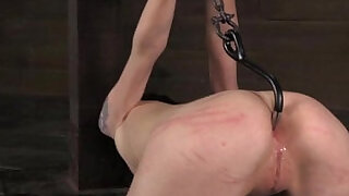 Anal hooked submissive being punished - 5:00