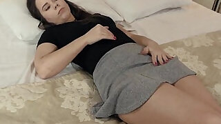 Defloration of sensual sweetie pink fuckbox and masturbating - 5:00