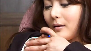 Mei sawai asian pleasures her hairy pussy fucking with fingers at office - 10:00