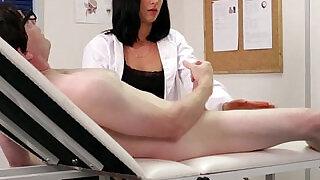 Cfnm femdom nurse Eden James giving head - 6:00
