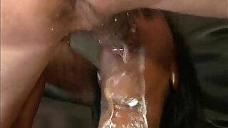 Ebony Deepthroat Skank Makes A Sloppy Mess - 4:00