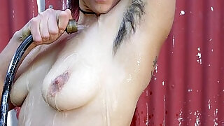 Sexy hairy chick with glass toy - 6:00