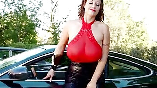 Incredible Redhead Eva Notty Models Her Beautiful Body On Top Of A Luxury Car - 13:00