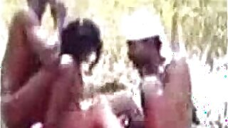 Wild group bonks in 3some outdoor topless by a river - 5:53
