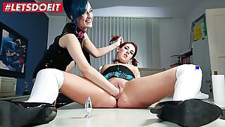 Four lesbians are fucked after school hands BDSM - 10:13