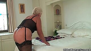 Chubby black granny rides on two guys - 5:34